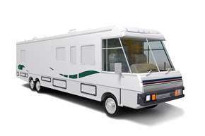 Motorhome and Make-up Truck