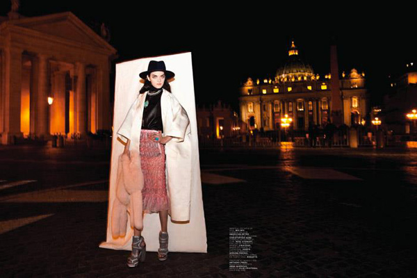 Photographer Oliviero Toscani in Rome