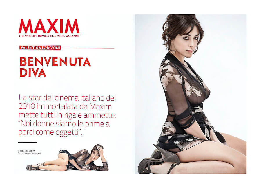 Maxim Magazine Best Photo production in Italy