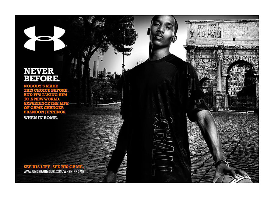 Best Photo production in Italy Under Armour