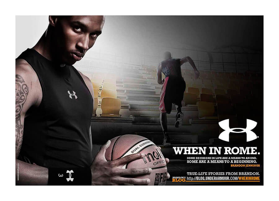 Under Armour Best Photo production in Italy