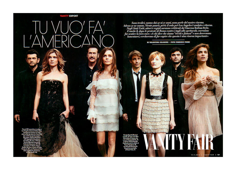 Best Photo production in Italy Vanity Fair