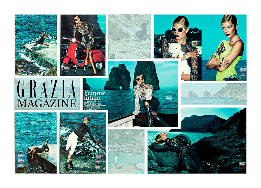 Best Photo production in Italy Grazia Magazine